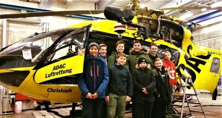 Hubschrauber-Führung Jugendfeuerwehr 2019