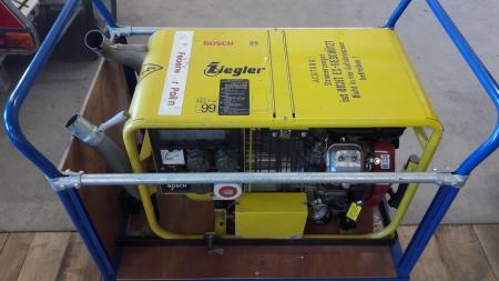Rollcontainer mit Stromerzeuger
